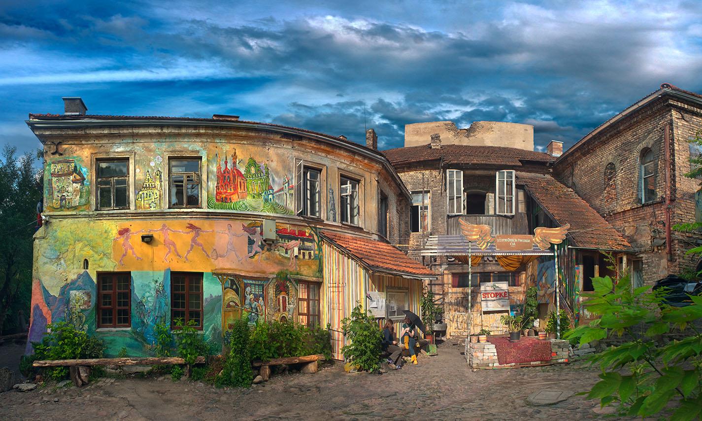 Район Ужупис в Вильнюсе