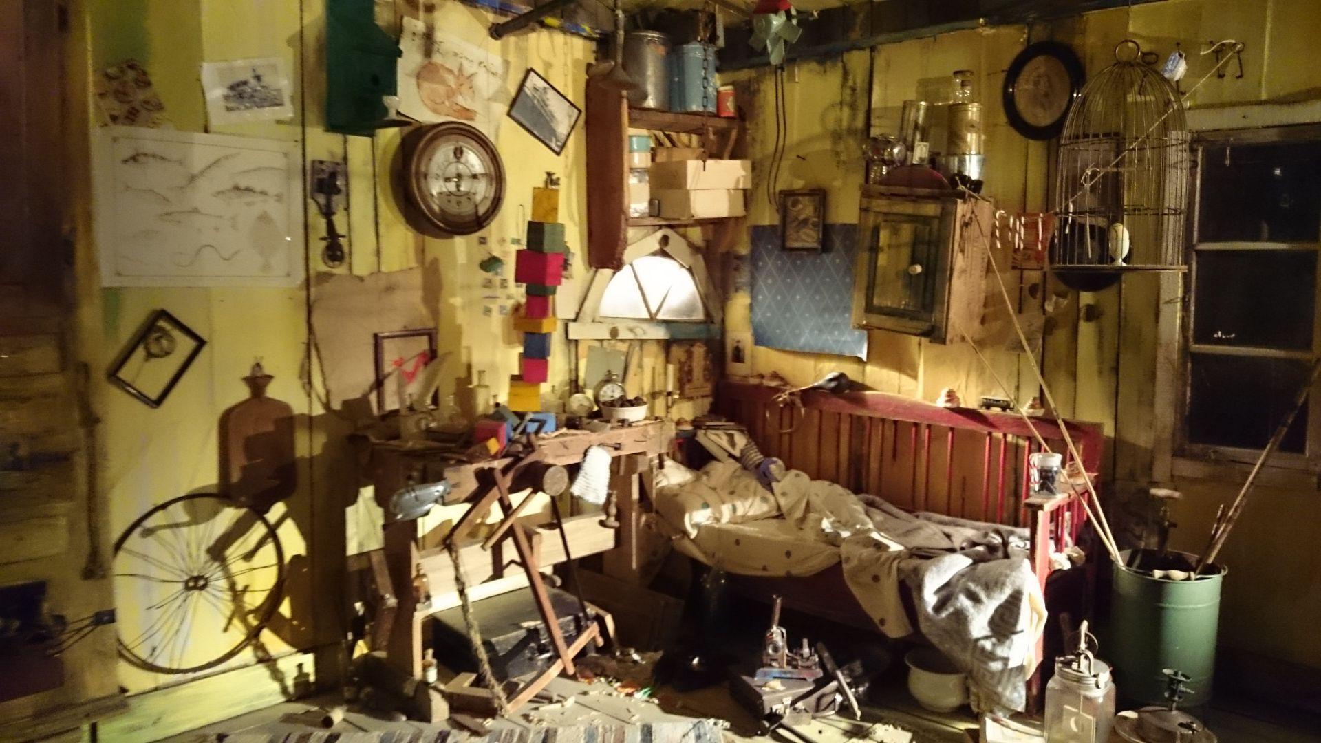 Комната карлсона в музее Астрид Лингрен