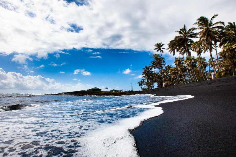 Пляж Пуналу, Гаваи.