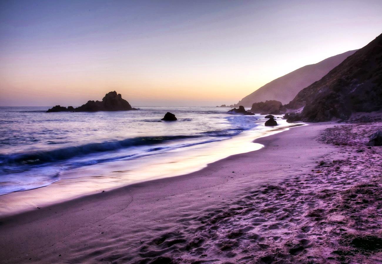 Пляж Пфайфер, Калифорния.