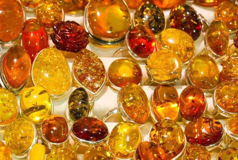 изделия из янтаря и серебра