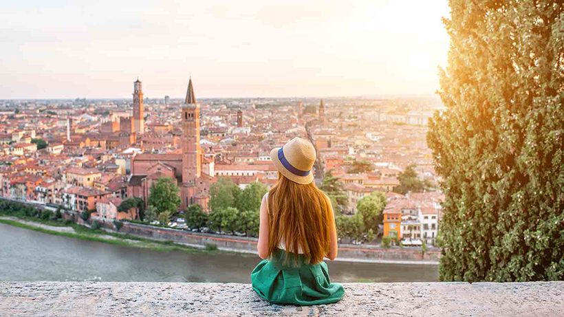 Турист в Вероне