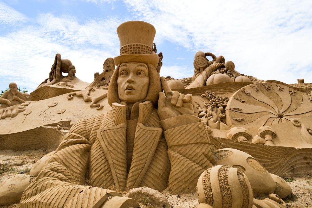 Міжнародний фестиваль скульптур з піску. Португалия