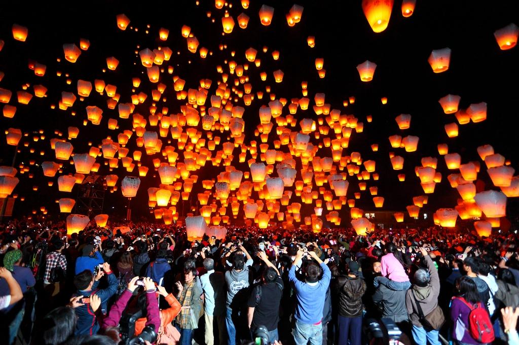 Фестиваль ліхтарів. Тайвань