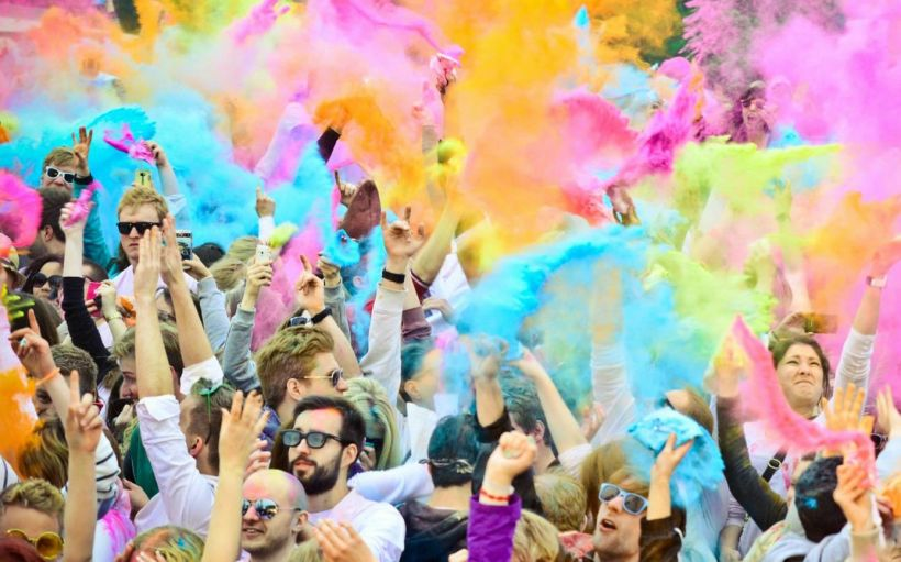 Фестивале красок Холи