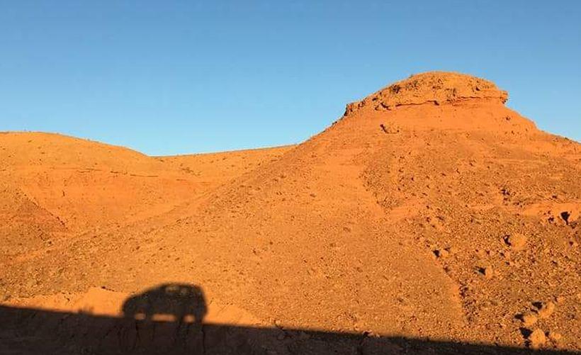 Марсианский ландшафт в Марокко