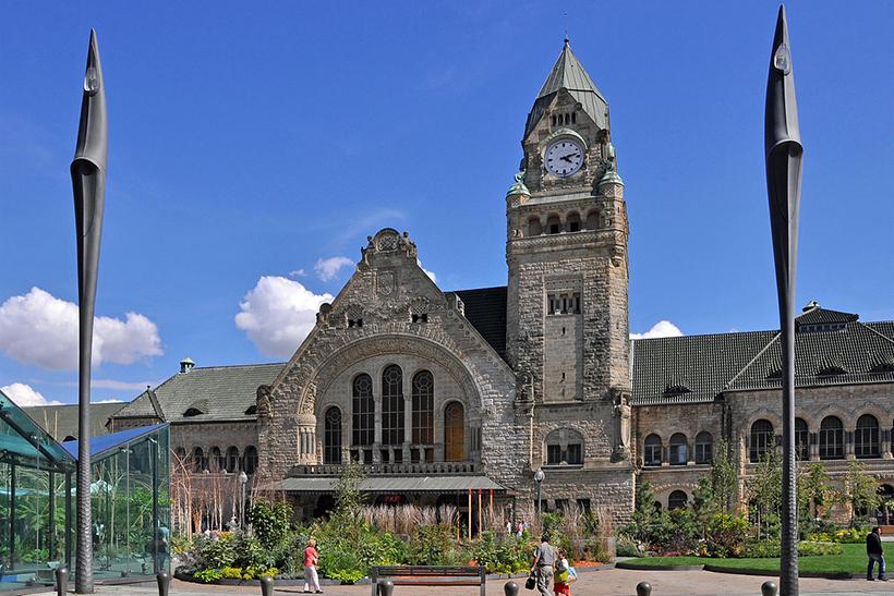 железнодорожный вокзал Gare de Metz-Ville