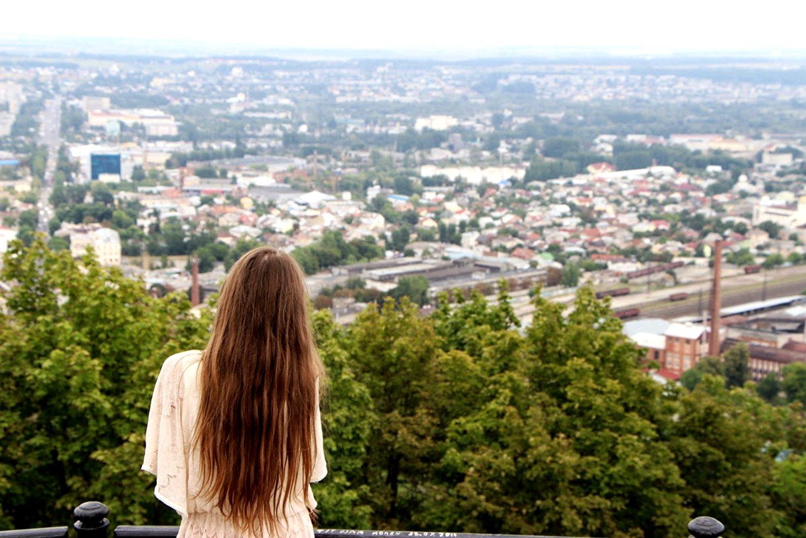 Вид с горы Высокий Замок на Львов