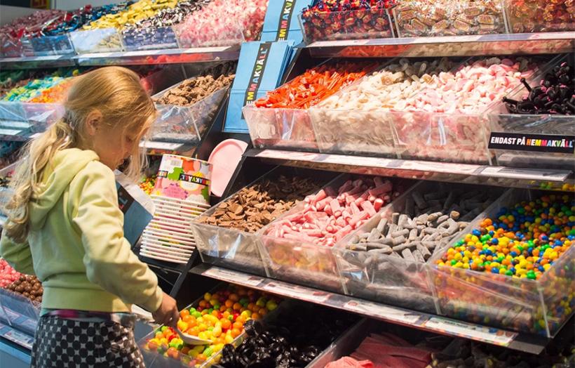 Магазин конфет в Швеции