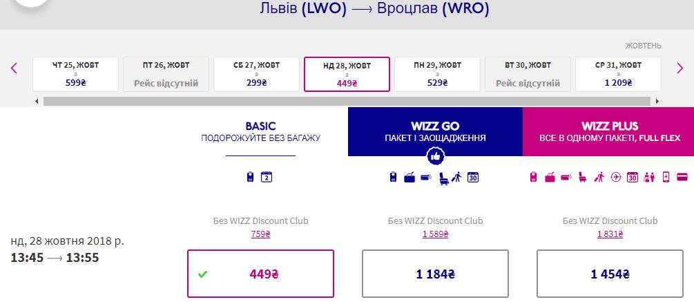 квиток Wizz Air