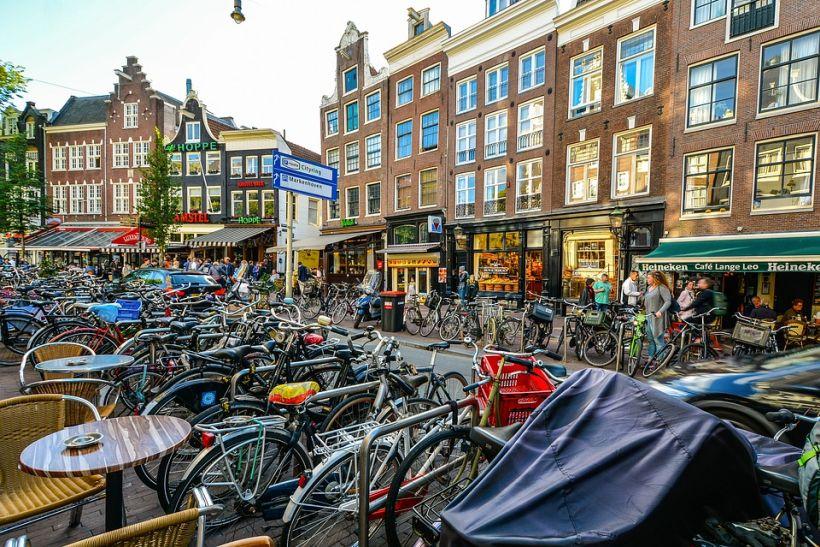 Амстердам, велосипеды