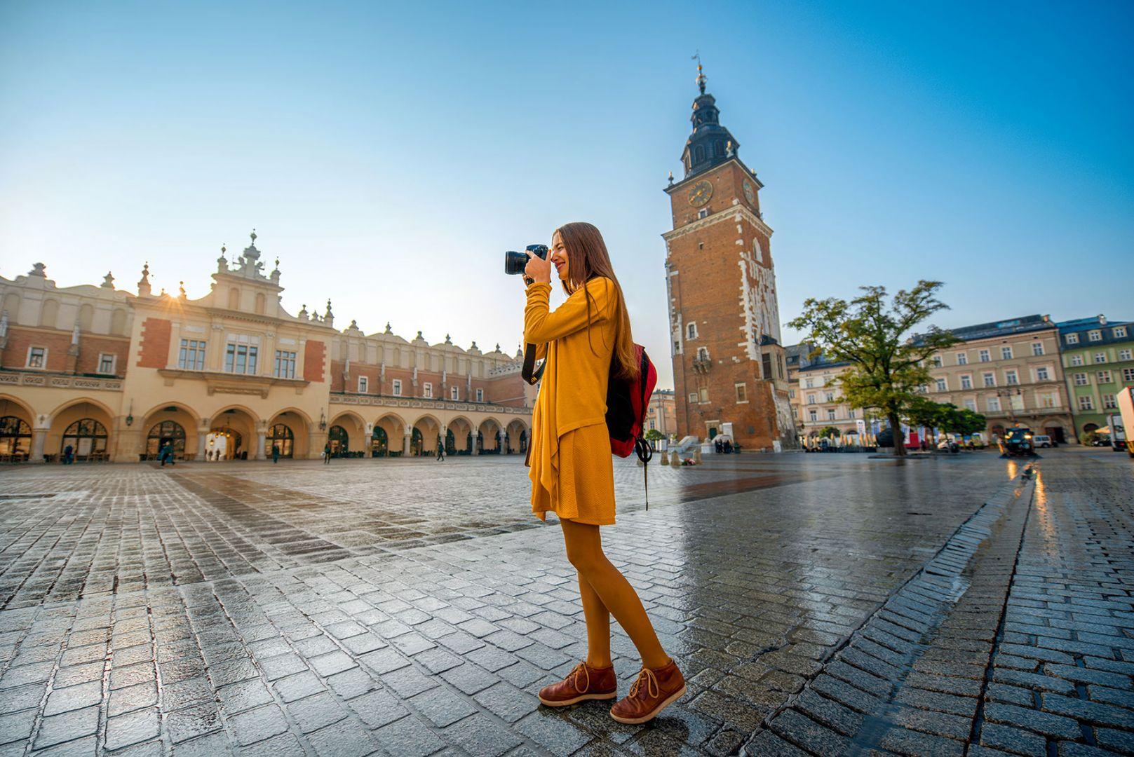 Турист в Кракове