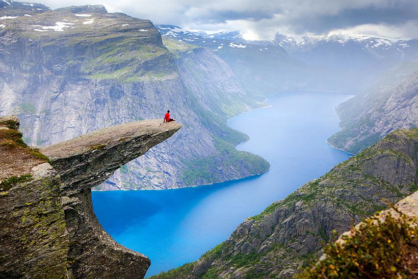 Гора Язык тролля в Норвегии