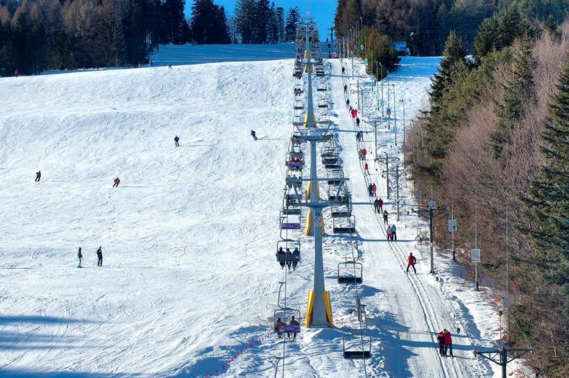 Лыжные трассы в Крынице