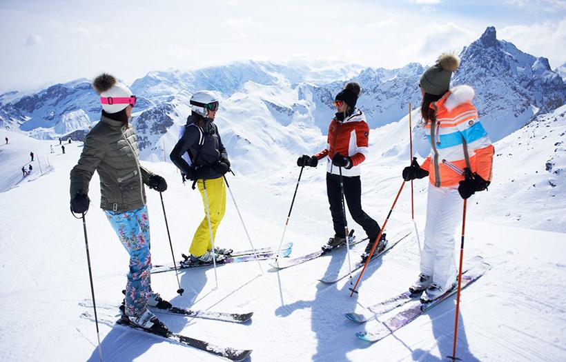 Катание на лыжах в Куршевеле
