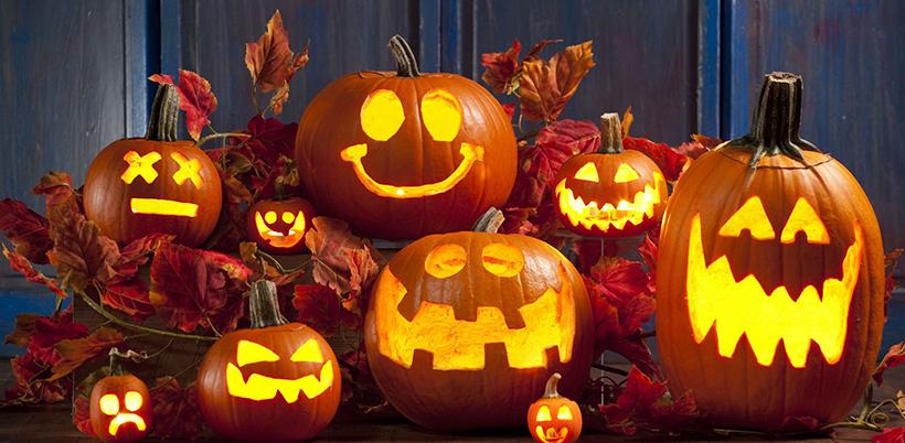 Тыква-светильник на Хеллоуин