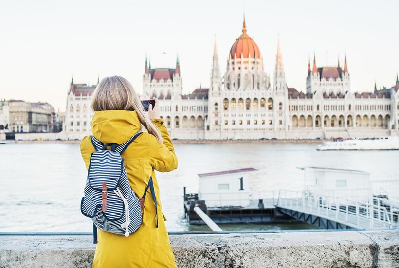 Турист в Будапеште