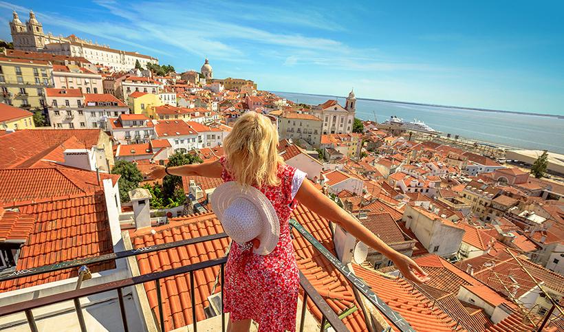 Турист в Лиссабоне