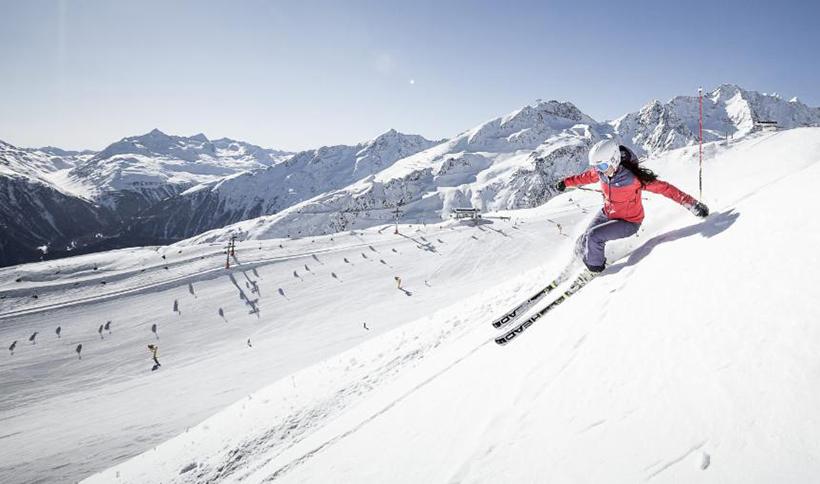 Лыжник в Зельдене