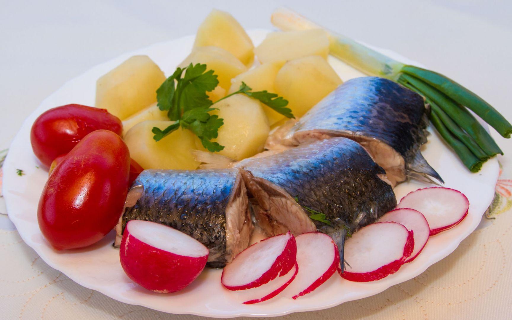 Блюдо из селедки в Вилково