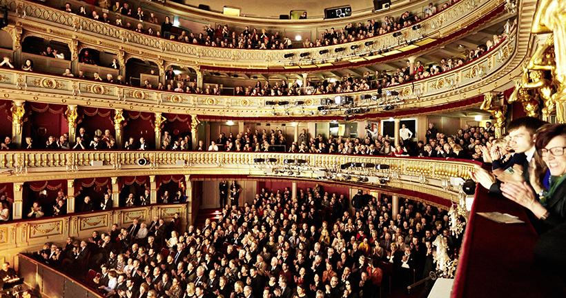 Зрительный зал в Венской опере
