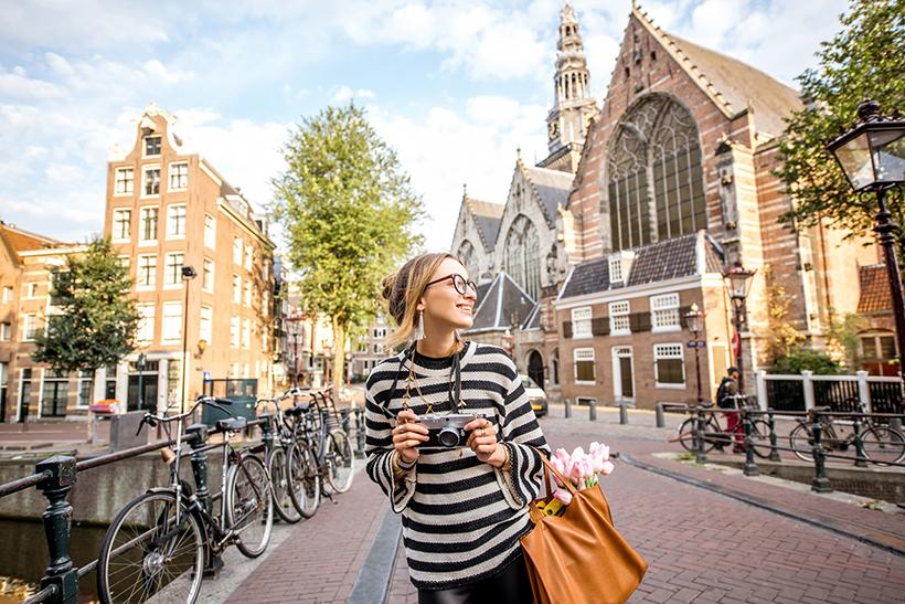 Турист в Амстердаме
