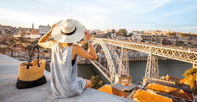 Одинокий турист в Порту