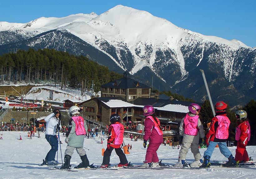 Лыжная школа для детей в Андорре
