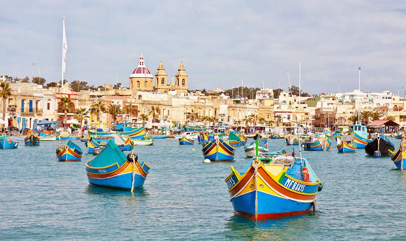 Лодки у берегов Мальты