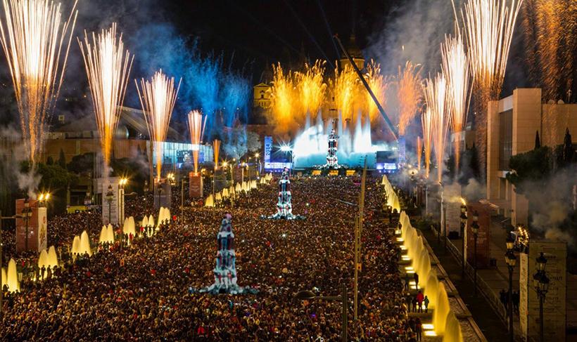 Празднование Нового Года в Барселоне