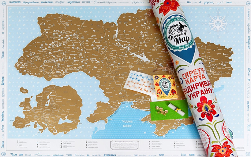 Скретч карты для путешественников