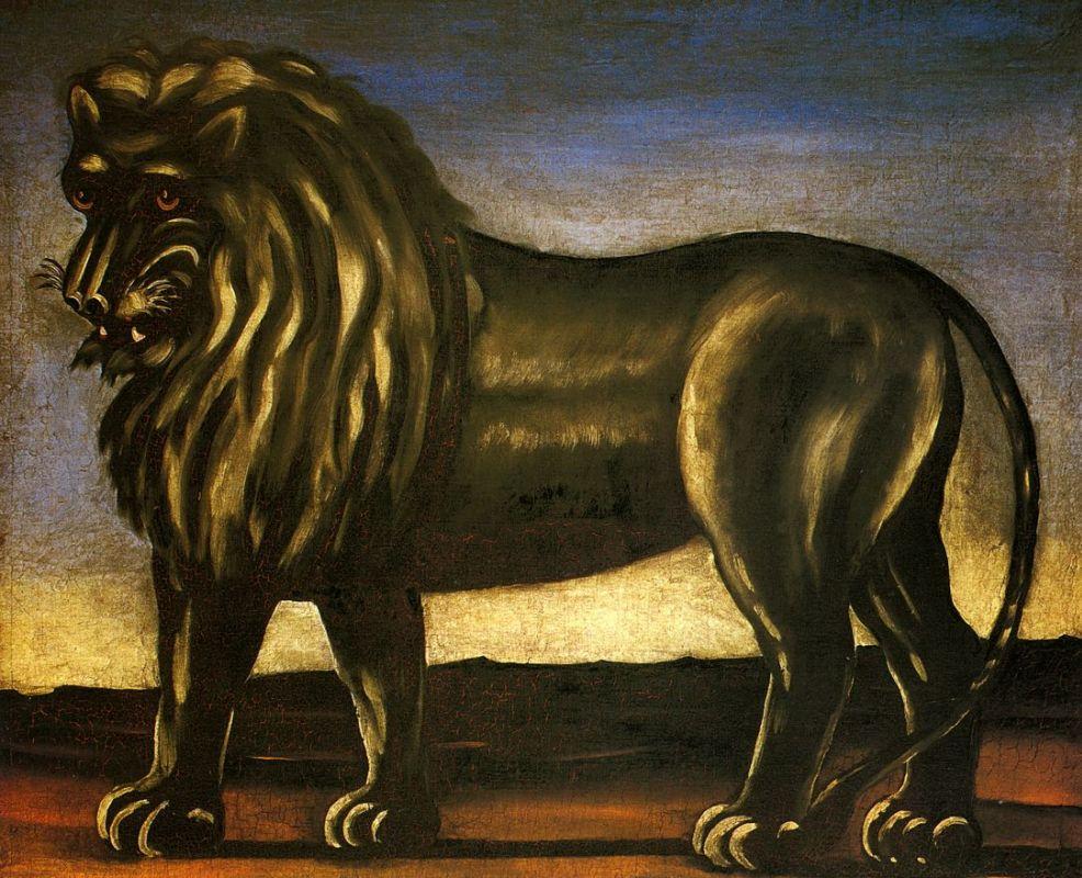 Картина Нико Пиросмани «Чёрный лев»