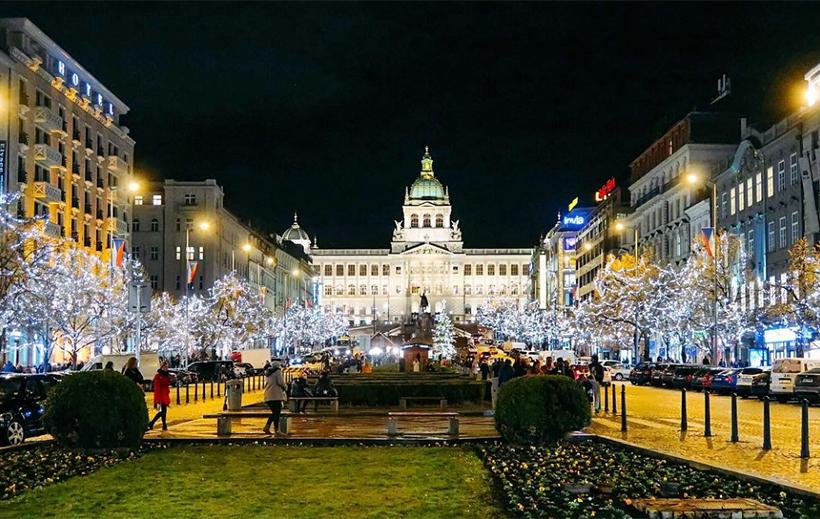 Вацлавская площадь на Рождество