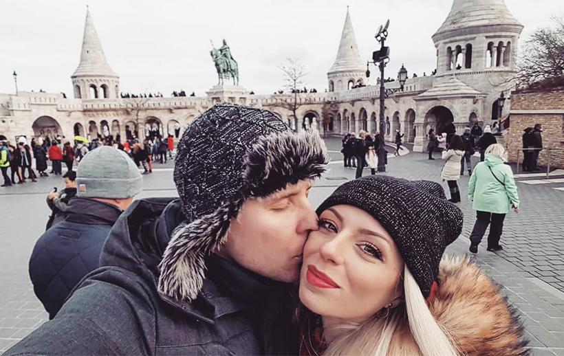 Влюбленная пара в Будапеште