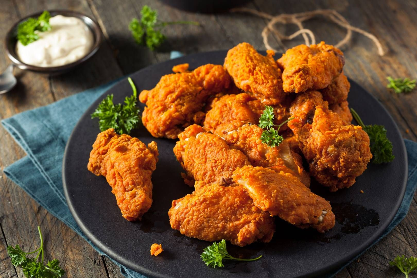 Жареная курица в Лондоне