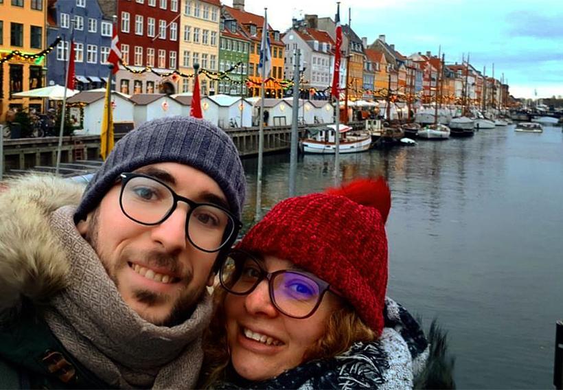 Влюбленная пара в Копенгагене
