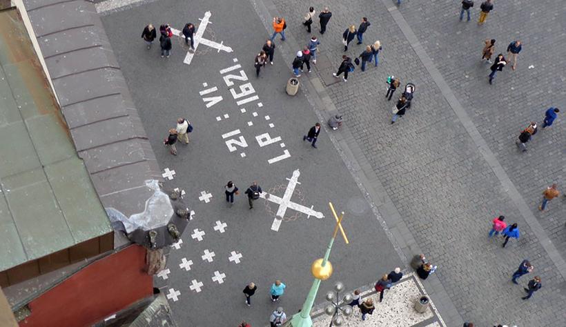 27 крестов на Староместской площади