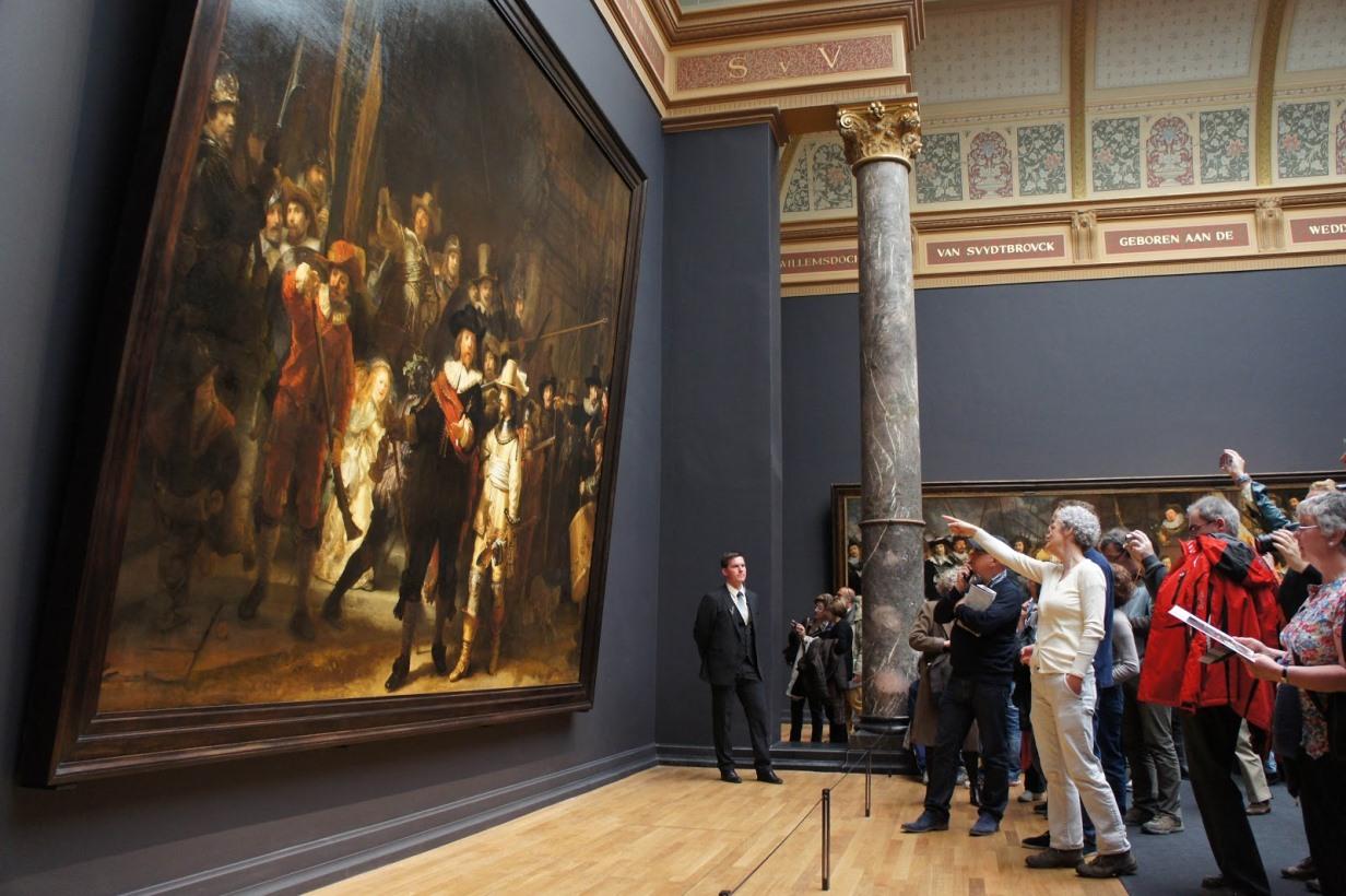 Картина Рембранта в музее Рейксмюзеум