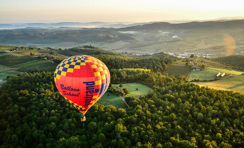 Полет на воздушном шаре над Тосканой