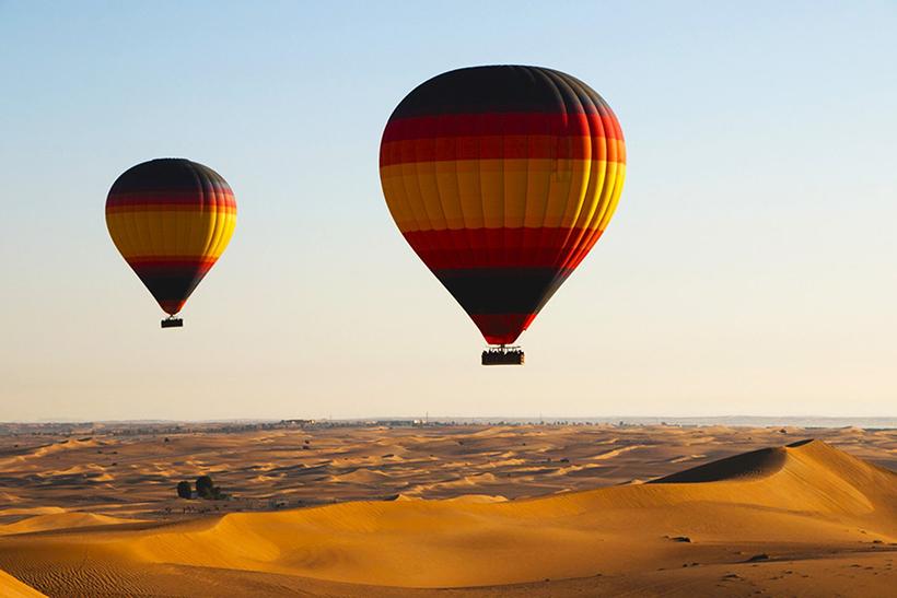 Полет на воздушном шаре над Аравийской пустыней