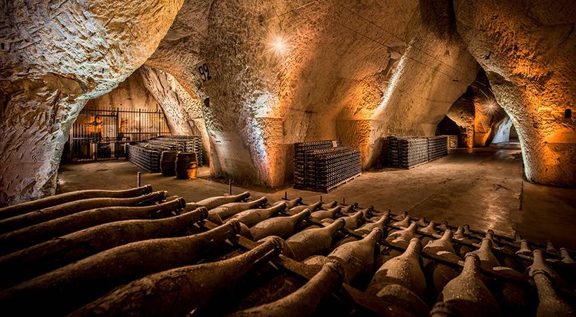 Старинные погреба в Шампани