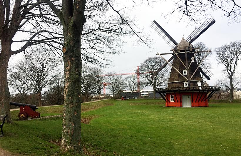 Мельница. Крепость Kastellet в Копенгагене