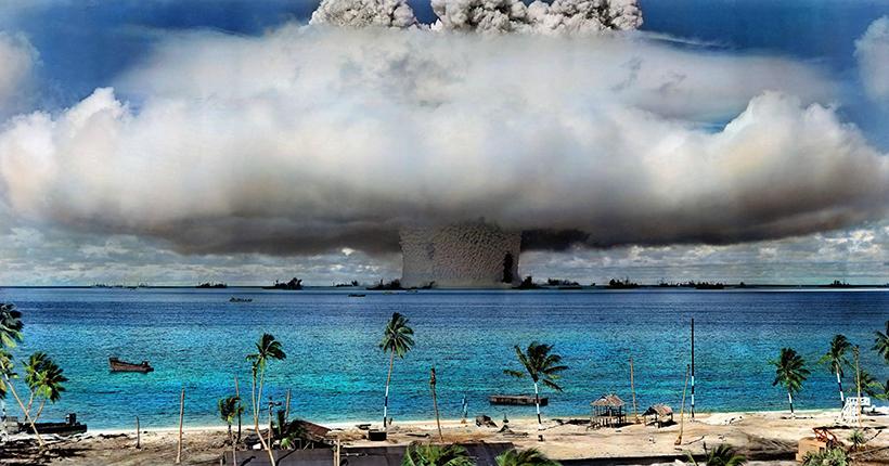 Испытания ядерного оружия США в Атолле Бикини в 1946 г.