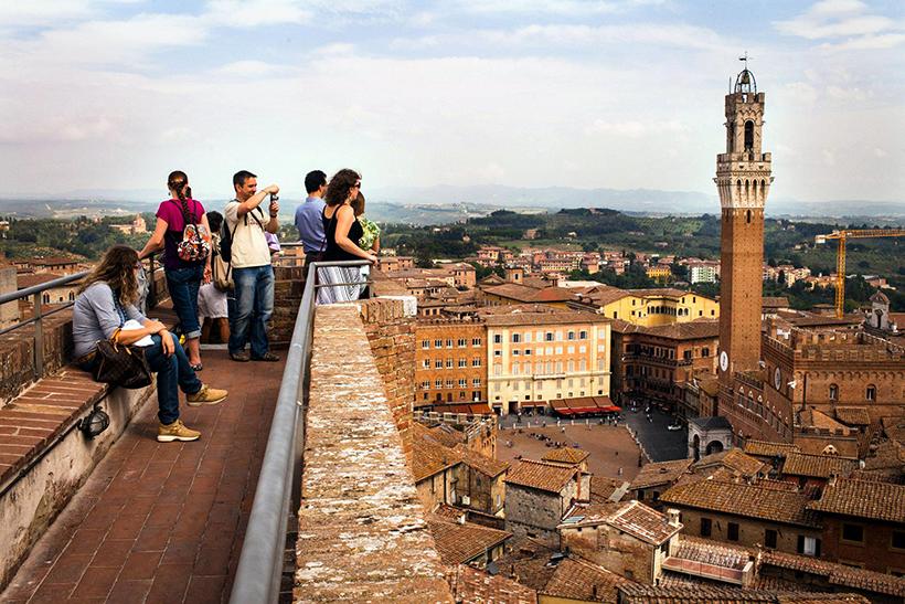 Вид на город Сиена