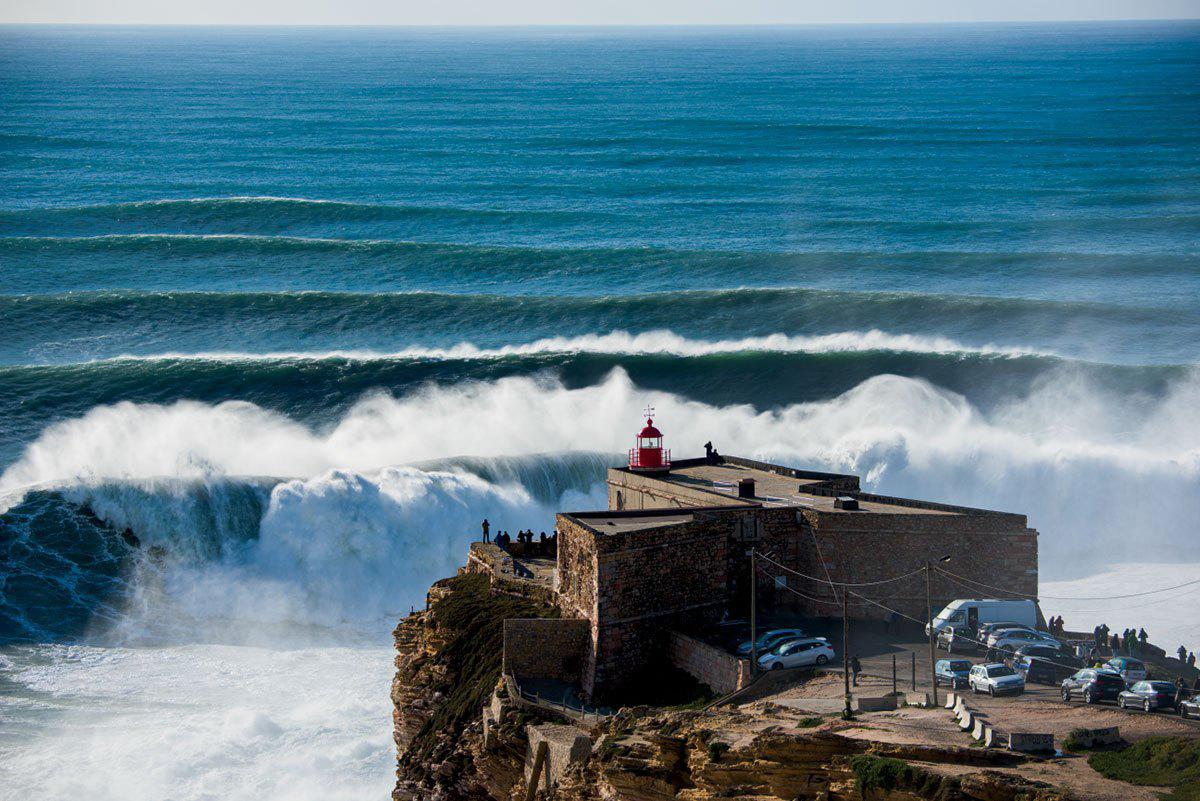 Смотровая площадка на пляж Назаре, Португалия