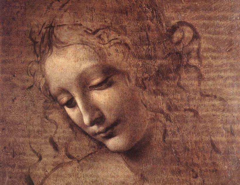 Девушка с растрепанными волосами да Винчи