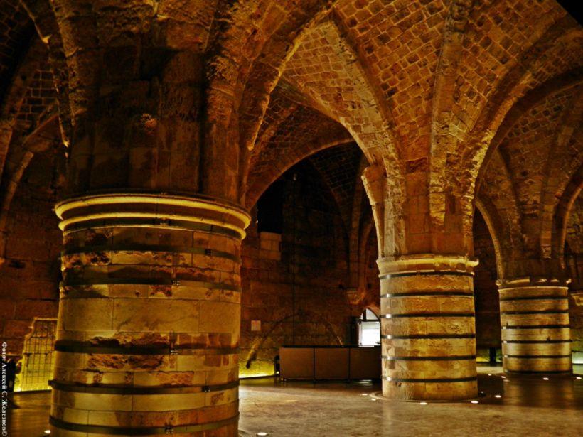 В подземных туннелях крестоносцев