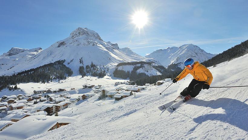 Катание на лыжах в Австрийских Альпах