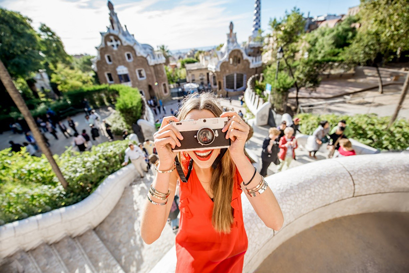 Турист в Барселоне