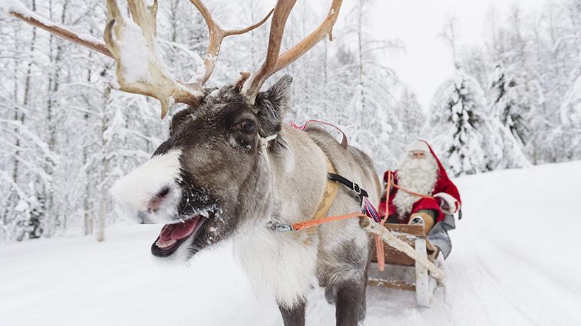 Новый Год в Деревне Санта Клауса в Рованиеми
